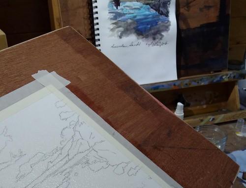 Saunton Sands Watercolour Sketch